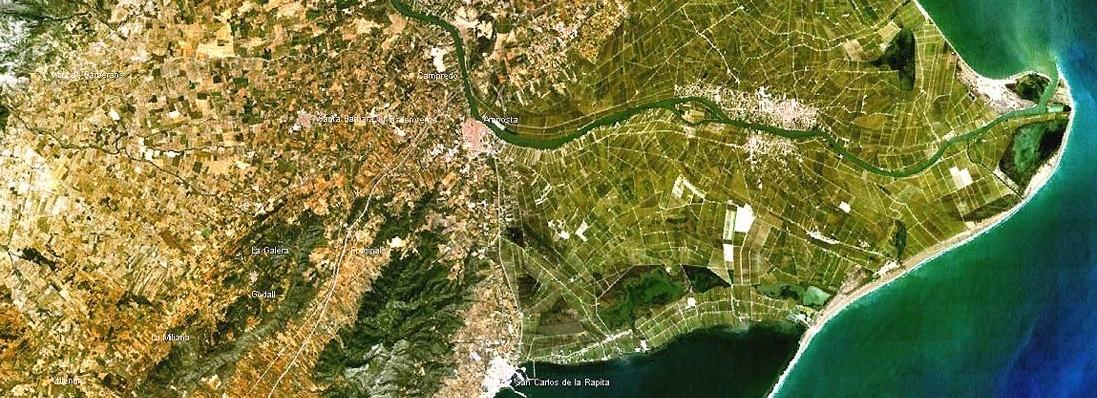 Comunidad General de Regantes de la Derecha del Ebro : PRESENTACIÓN : Situación del Delta