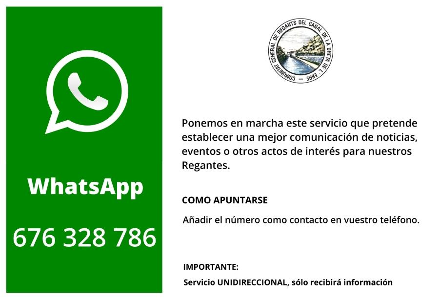 Comunidad General de Regantes de la Derecha del Ebro :  : Whatsapp